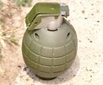 Movilizan policía por granada, de juguete
