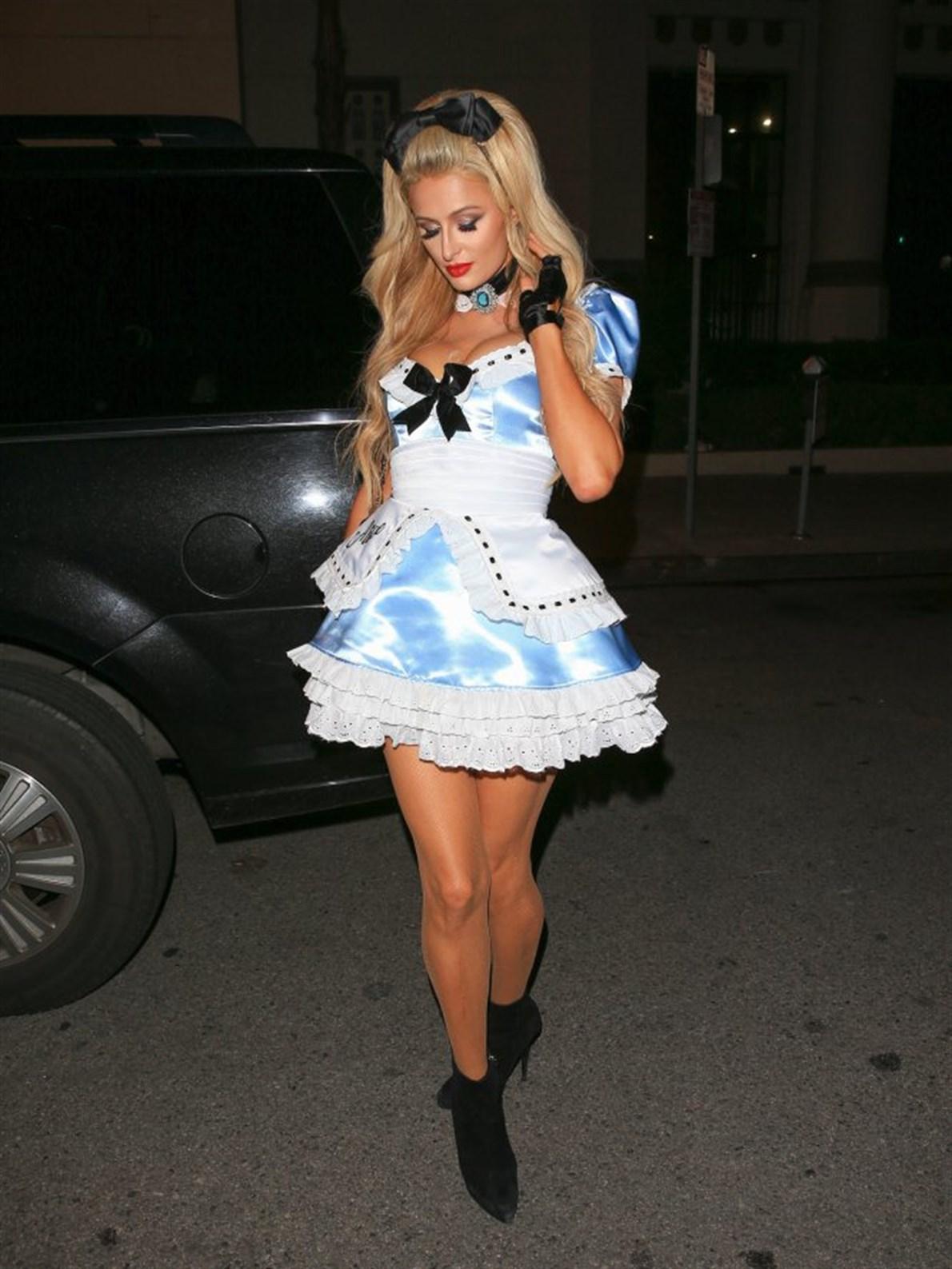 El disfraz elegido por Paris Hilton.