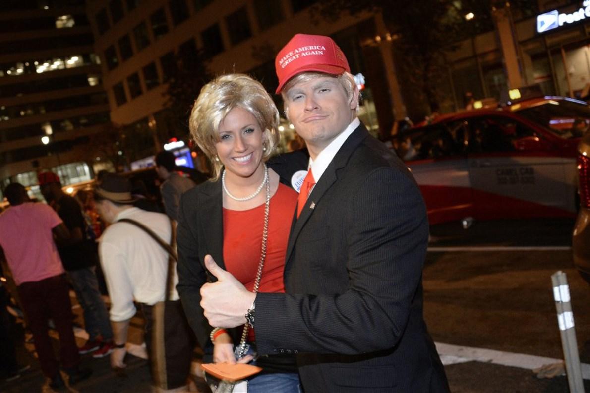 Los disfraces de Donald Trump y Hillary Clinton han sido los más populares.