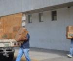 La entrega de despensas por parte del Gobierno: