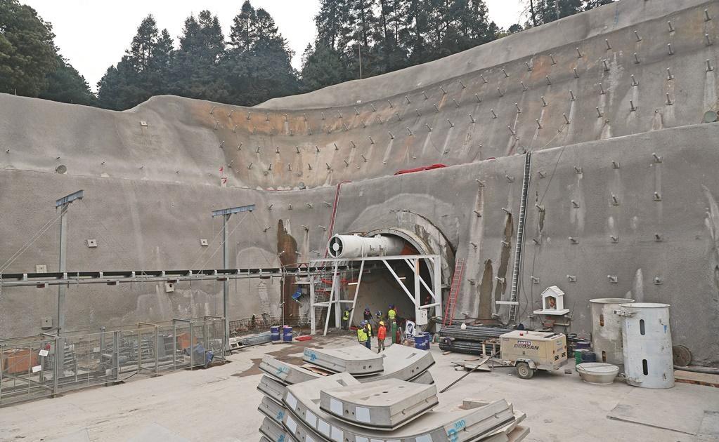 En la zona de la Marquesa se reincida la perforación del Cerro de las Cruces para construir el bitúnel del segundo tramo del tren.