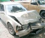 Cuantiosos daños materiales en un percance vial