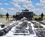 Aseguran militares arsenal en Nuevo Laredo