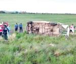 Fallecen 5 jornaleros en percance carretero