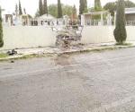 Accidente arroja daños materiales
