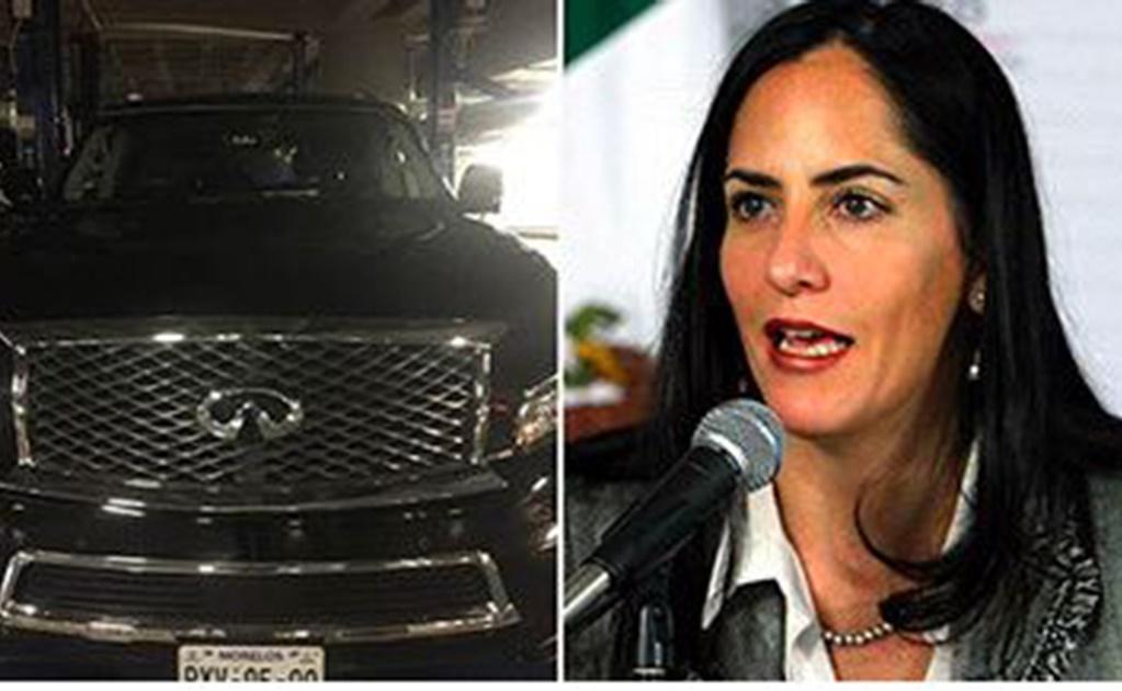 Entre los autos de lujo con placas del estado Morelos destaca la camioneta Infinity QX80, de la diputada de la CDMX por el Partido Verde, Lía Limón García.