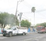 Se incendia cable de CFE por corto