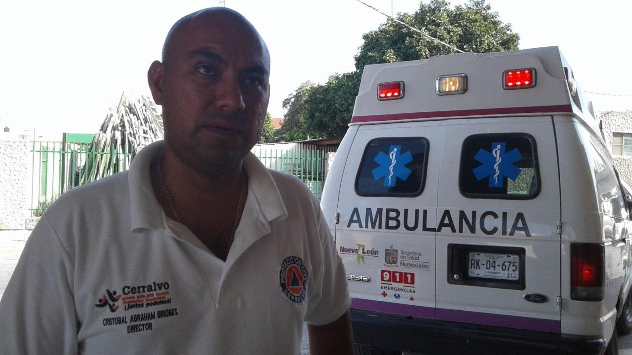 REVELA. El Director de Protección Civil en Cerralvo, NL., Cristobal Abraham Briones, reveló detalles sobre el aparatoso accidente registrado la tarde del miércoles en un tramo carretero perteneciente a Dr. González.(foto: Heriberto Rodríguez)