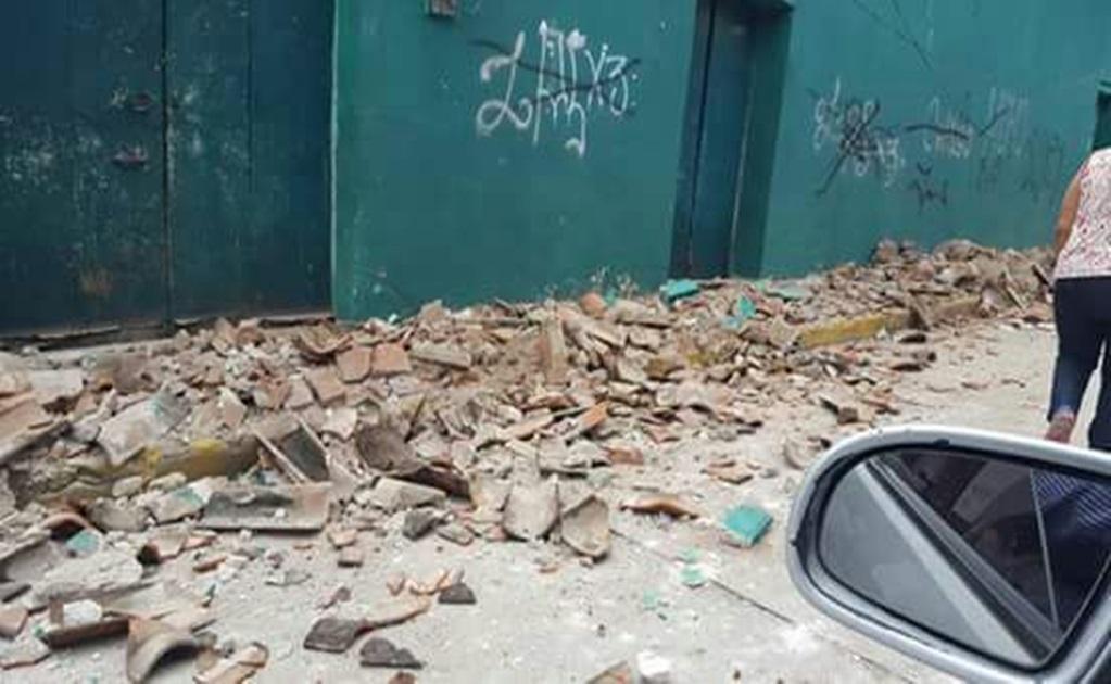 La Coordinación Estatal de Protección Civil de Oaxaca reportó daño estructural en el palacio municipal de Huajuapan de León.