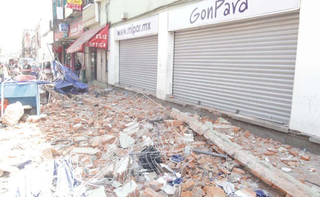 En Puebla hay reportes de daños en infraestructura además de reportes de cortes de energía eléctrica.