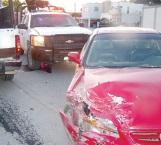 Cinco heridos en crispante choque