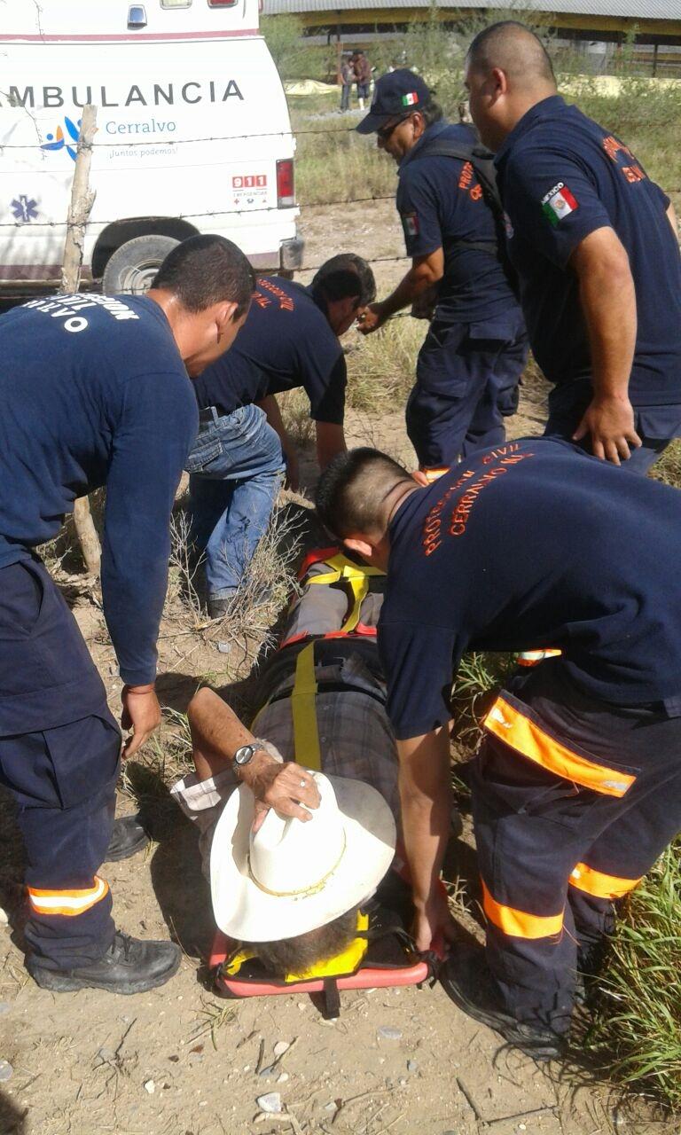 RESCATAN. Don José Lauro Nuñez González, de 80 años de edad y con domicilio conocido en Cerralvo, NL., pudo ser ubicado y rescatado sano y salvo la mañana del sábado, luego de 2 días de intensa búsqueda.