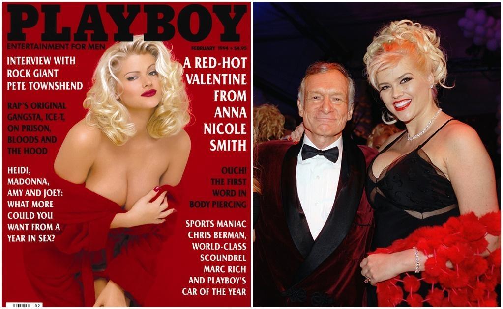 La fallecida Anna Nicole Smith también tuvo una relación sentimental con el creador de Playboy. Su muerte, hace diez años en una habitación del hotel Hard Rock Café, marcó a Hefner, quien la consideraba la nueva Marilyn Monroe.