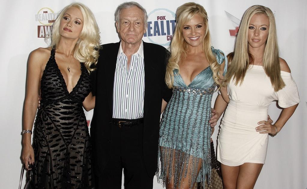 Kendra Wilkinson, Holly Madison y Bridget Marquardt, conocidas por la serie de televisión Las chicas de la mansión Playboy, se sumaron a la lista de sus amoríos. Foto: Archivo