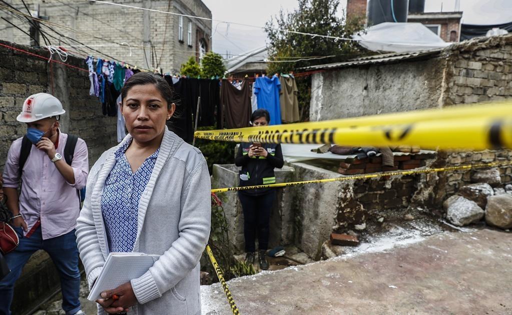 """""""Hasta el momento todavía no puedo hablar del temblor, fue terrible porque estaba yo sola con mis hijos de 5 y 11 años, mi esposo estaba trabajando, relata Maribel."""