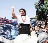 Indígena rechaza dinero público para su campaña