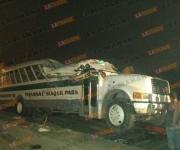 Lista de lesionados por accidente de camión con empleados de maquiladora