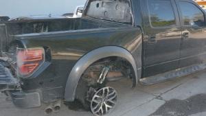 Usaban como blindada una camioneta robada
