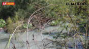 Inundan aguas negras hogares en Las Mitras