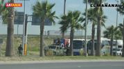Vuelca patrulla de Policía Federal