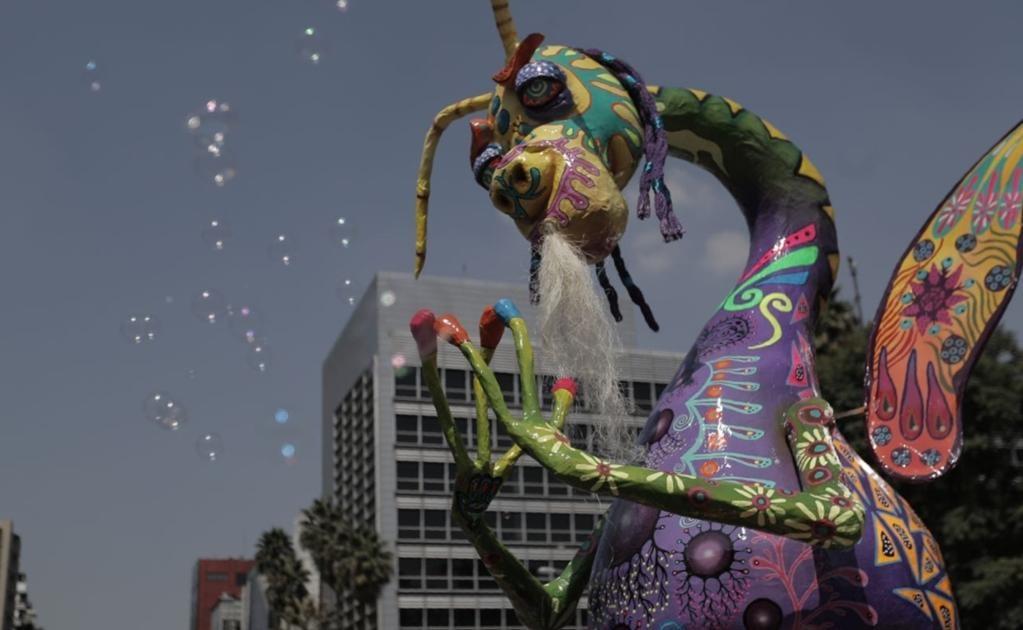 Los creadores de estas mágicas obras vienen de los estados de México, Guanajuato, Hidalgo, Morelos, Oaxaca, Sinaloa y Tlaxcala, para ponerle color a la Ciudad de México.
