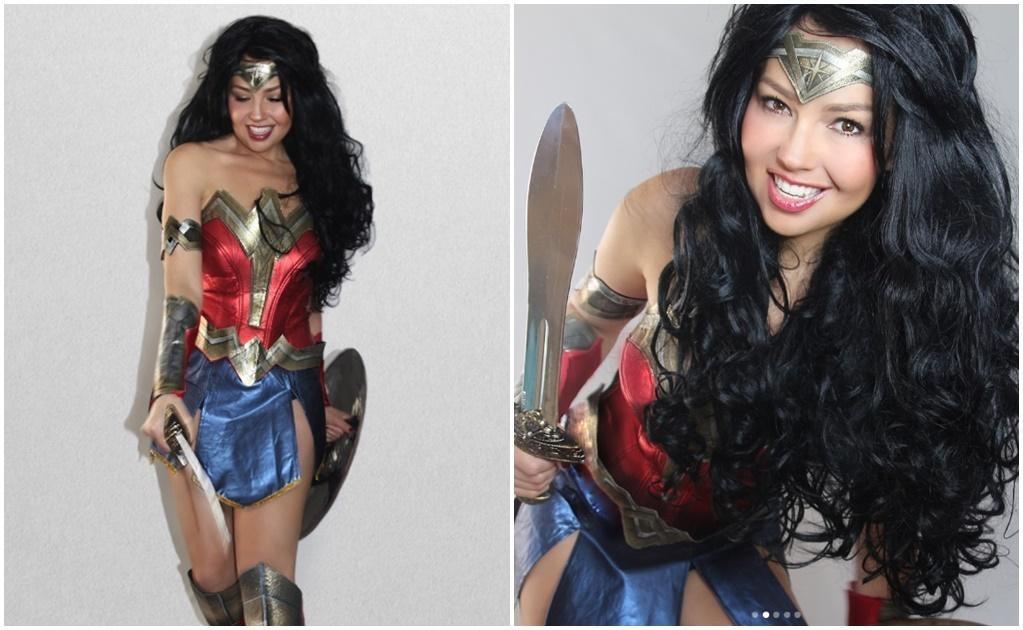 Thalía como la Mujer Maravilla. Instagram
