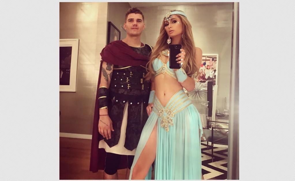 Paris Hilton como la princesa Jazmín y su sexy gladiador. Instagram