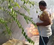Incendio causa alarma entre residentes de zona centro
