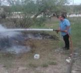 Combaten incendio por quema indiscriminada de basura