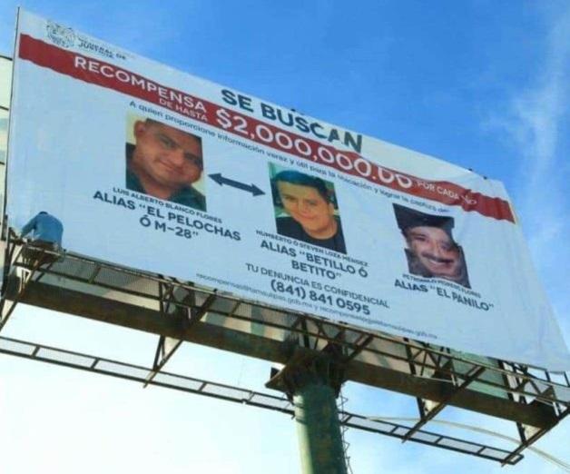 Ofrecen recompensa por líderes criminales de la zona norte