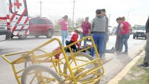 Crispante accidente de biciclos