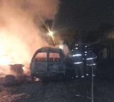 Intencional quema de camioneta