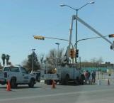 Reparan semáforos viales del Blvd. Miguel Alemán