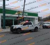 Asaltan 2 hombres banco Afirme en bulevar Morelos