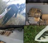 Incauta Policía Estatal droga y armas durante inspección en Díaz Ordaz