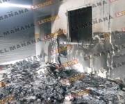 Pandilleros incendian bodega en Río Bravo