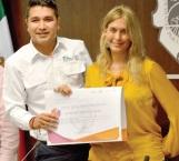 Entregan reconocimiento a la alcaldesa de parte de la Secretaría de Gobernación