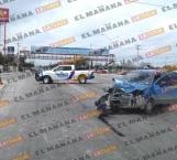 Choca auto contra blindado, un lesionado