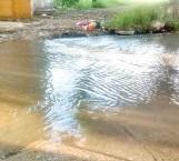 Inundan aguas negras colonias