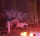 Mueren 3 al impactar tren a camioneta