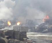 Fuerte movilización por incendio en empresa TERSA