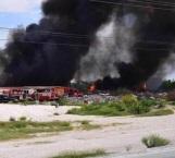Arde basurero municipal en Río Bravo