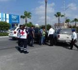 Chocan frente a Cruz Roja y Dirección de Tránsito