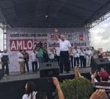 Inicia AMLO su campaña presidencial en Matamoros