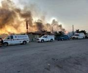 Incendio forestal arrasa con todo a su paso