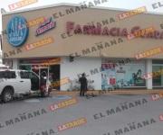 Asaltan farmacia Guadalajara y frustran asalto a otra, en Reynosa