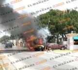 Consume incendio 3 autos en Matamoros