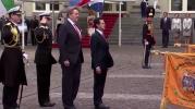 Reyes de Países Bajos reciben a Peña Nieto en ceremonia