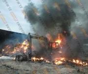 Apagan incendio en maquiladora de reciclaje