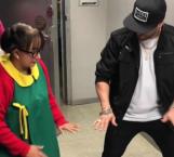 Se mueve 'La Chilindrina' al ritmo de reggaetón